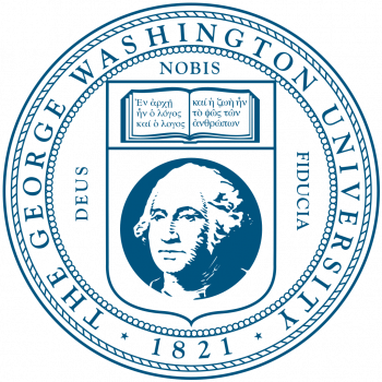 The official seal of The George Washington University.
