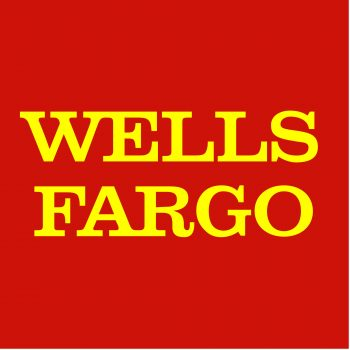 The official company logo for Wells-Fargo, a strategic-partner and sponsor for VETSI, INC, a 501c3 chartered to help veterans re-assimilate into the modern workforce.